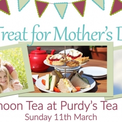 Treat your mum to a Purdy's Afternoon Tea