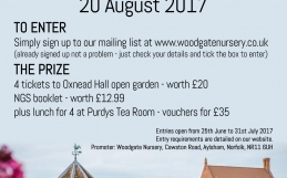 Win a day at NGS open garden Oxnead Hall