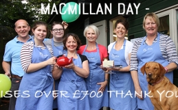 Cakes, crumbs and coffee all in aid of Macmillan.