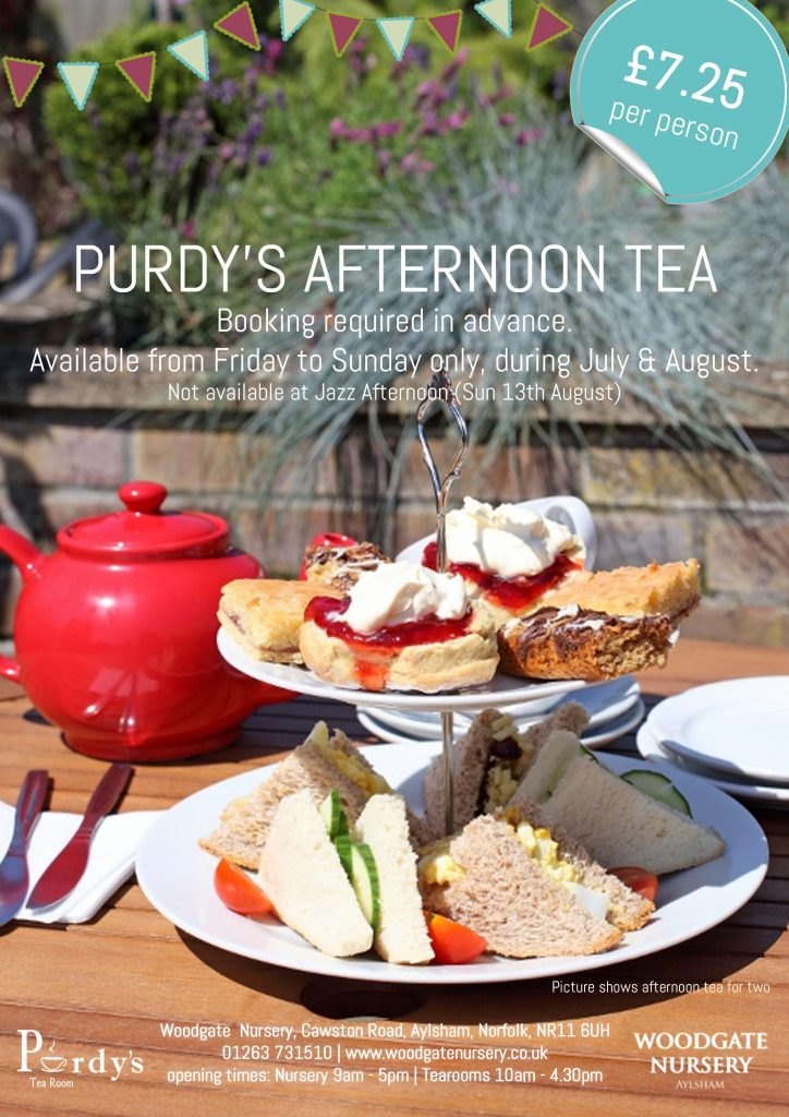 Purdy's Afternoon Tea during July & August