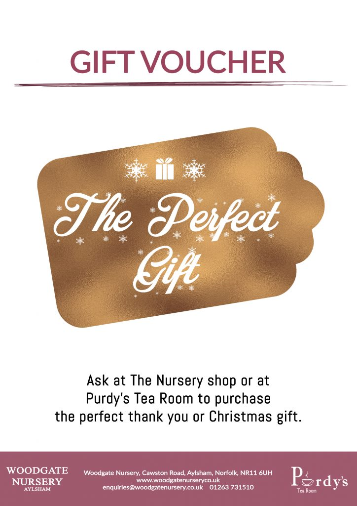 Woodgate and Purdy's Tea Room Vouchers