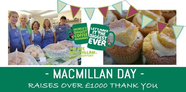 Hundreds enjoyed guilt free cake in aid of Macmillan.