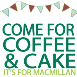 Macmillan Coffee Day – Friday 27th September, 10am to 4pm