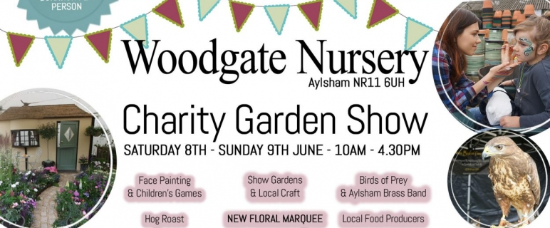 Come Outside – To the Woodgate Nursery Charity Garden Show this 8/9th June!