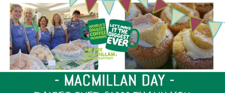 Hundreds enjoyed guilt free cake in aid of Macmillan.