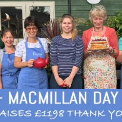 Hundreds enjoy coffee and cake in aid of Macmillan.