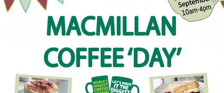 Macmillan Coffee Day – Friday 29th September, 10am to 4pm